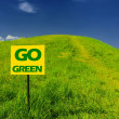Idyllic green hill with fresh grass — Stock Photo #2150399