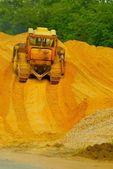 Heavy bulldozer working — Stock Photo