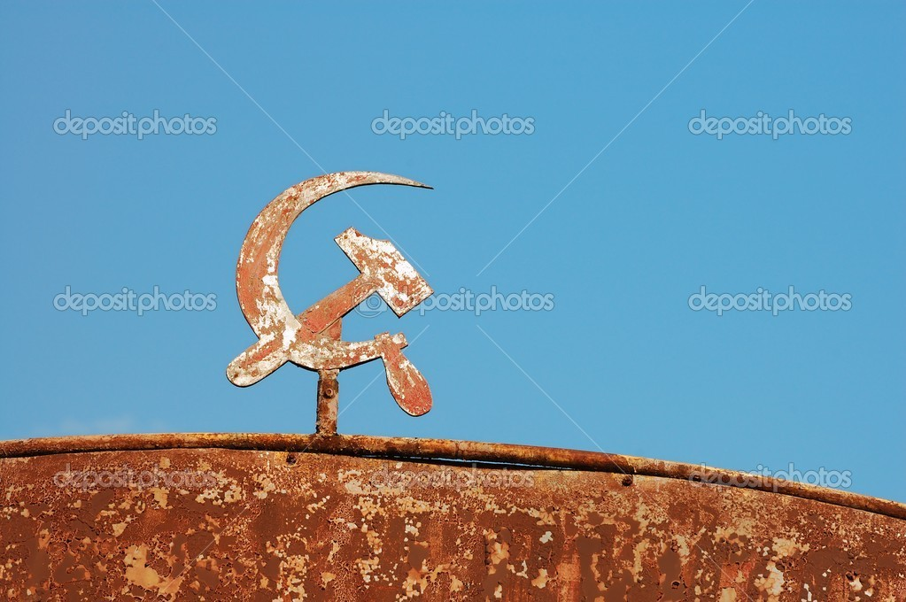 Sickle and hummer from USSR — Stock Photo #2150697