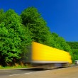 Fast moving truck — Stock Photo