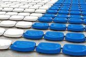 Empty rows of stadium seats — Stock Photo
