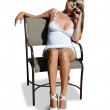 Blond in chair — Stock Photo
