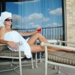 Balcony relaxation — Stock Photo