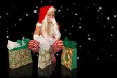 Santas little helper — Stock Photo