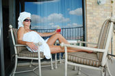 Relaxation de balcon — Photo