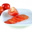 Stock Photo: Sliced tomatoes