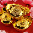 Traditional chinese gold ingots — Stockfoto #2147527