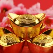 Stockfoto: Traditional chinese gold ingots