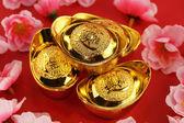 Lingotti d'oro cinese tradizionale — Foto Stock