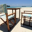 Foto Stock: Beach chairs 1