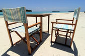 Beach chairs 1 — Stock Photo