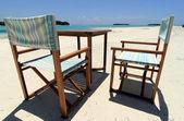 Beach chairs 1 — Stock Photo