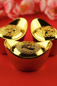 Lingotti d'oro cinese — Foto Stock