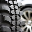 Off-road vehicle tire — Stock Photo