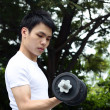 Royalty-Free Stock Photo: Young man working out