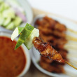 chicken satay — Stock Photo