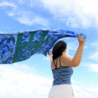 Stock Photo: Blue Shawl