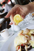 Seafood lunch — Stockfoto