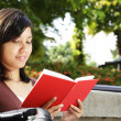 Stock Photo: Woman reading