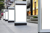 Blank signboards — Stockfoto