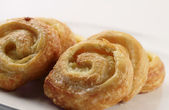 Mini Danish custards — Stockfoto