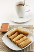 Fried spring rolls — Stockfoto