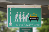 Queue sign — Stock Photo