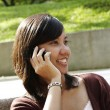Woman on the phone — Stock Photo
