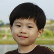 Young boy smiling — Foto Stock