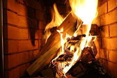 Fire on fire wood — Stock Photo