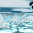 Stock Photo: Earth on iceberg