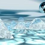 Erde auf Eisberg — Stockfoto