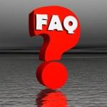 Red FAQ by night — Stock Photo #2149507