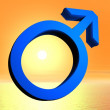 Blue male symbol — Stock Photo