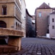 Old city street in Geneva, Switzerland — Stock Photo #2534743