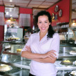 Proud and confident owner of a cafe — Stock Photo