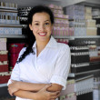 Foto Stock: Portait of a retail store owner