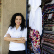 Happy owner of a fabric store — Stock Photo #2158762