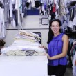 Happy owner of dry cleaning service — Foto de stock #2158810