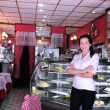 Proud and confident owner of a cafe — Stok fotoğraf