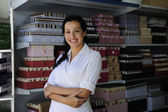 Portait of a retail store owner — Stock Photo