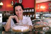 Proprietario di un piccola impresa negozio café — Foto Stock