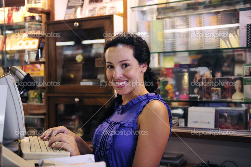 Owner of a small business/ bookstore — Stock Photo #2158861