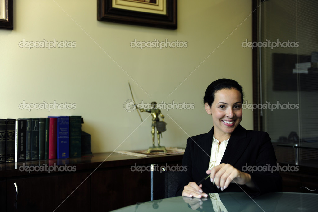 Portrait of a female lawyer at office  Stock Photo #2158953