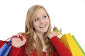 Teen girl shopping — Stock Photo