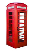 English red phone box — Stock Photo