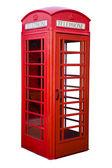 English red phone box — Stock Photo
