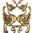 Antique golden wood ornament - Photo