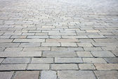 Cobbled street in Paris — Stock Photo