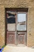 Mended door — Stock Photo